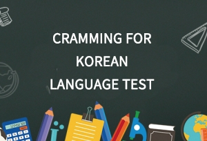 Cramming for Korean language test