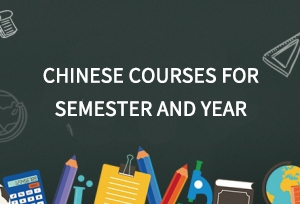 Chinese courses for semester and year